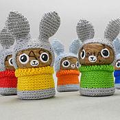 Куклы и игрушки ручной работы. Ярмарка Мастеров - ручная работа Радужные зайцы. Handmade.