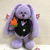Мягкие игрушки ручной работы. Ярмарка Мастеров - ручная работа Плюшевый заяц амигуруми игрушка. Handmade.
