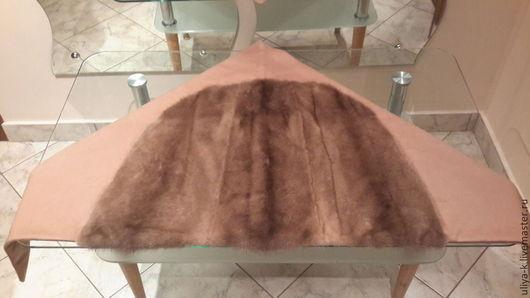 Верхняя одежда ручной работы. Ярмарка Мастеров - ручная работа. Купить кашемировая косынка с норкой. Handmade. Головной убор, палантин