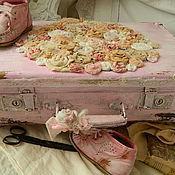 Для дома и интерьера ручной работы. Ярмарка Мастеров - ручная работа Чемодан розовый крем. Handmade.