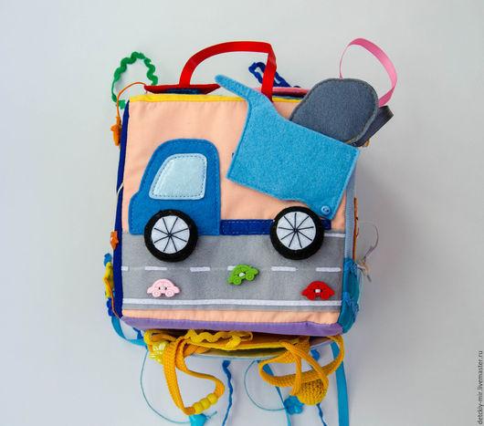 Развивающие игрушки ручной работы. Ярмарка Мастеров - ручная работа. Купить Развивающий кубик. Handmade. Разноцветный, для детей, яркая игрушка