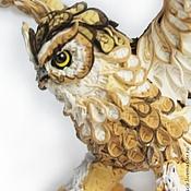 """Куклы и игрушки ручной работы. Ярмарка Мастеров - ручная работа фигурка """"Филин"""" (большая сова, статуэтка совы). Handmade."""