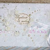 """Канцелярские товары ручной работы. Ярмарка Мастеров - ручная работа Альбом свадебный """"Жемчужный"""", семейный, юбилейный, подарок женщине. Handmade."""