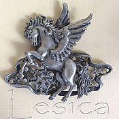 Винтаж handmade. Livemaster - original item Brooch collectible Pegasus from JJ. Handmade.