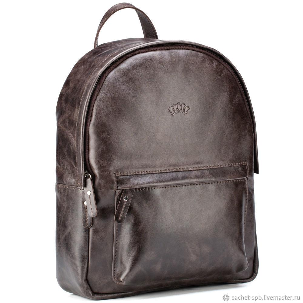 Leather backpack 'Stephanie' (dark brown antique), Backpacks, St. Petersburg,  Фото №1