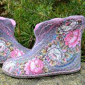 """Обувь ручной работы. Ярмарка Мастеров - ручная работа Чуни """"Сон бабочки"""". Handmade."""