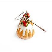 """Украшения ручной работы. Ярмарка Мастеров - ручная работа Серьги """"Кексы с клубникой"""". Handmade."""