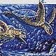 """Вышивка ручной работы. Ярмарка Мастеров - ручная работа. Купить Схема  вышивки крестом """"Морские черепахи"""". Handmade. схемы для вышивки"""