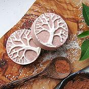 Косметика ручной работы. Ярмарка Мастеров - ручная работа Шоколадно-кокосовая бомбочка для ванн. Handmade.