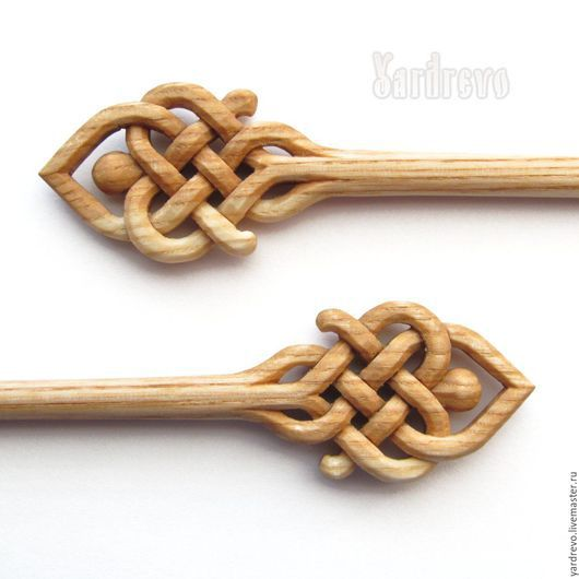 Заколки ручной работы. Ярмарка Мастеров - ручная работа. Купить Шпильки из дерева резные(Ясень). Handmade. Бежевый, палочки, hair stick