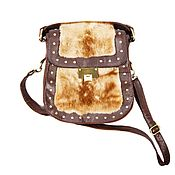 Сумки и аксессуары handmade. Livemaster - original item Stylish bag made of natural mink fur and brown leather. Handmade.