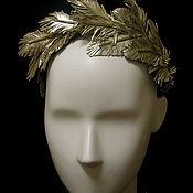 """Украшения ручной работы. Ярмарка Мастеров - ручная работа Ободок для волос """"Золотое оперение"""". Handmade."""