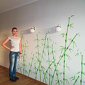 Дизайн и реклама handmade. Livemaster - original item Wall painting in the bedroom