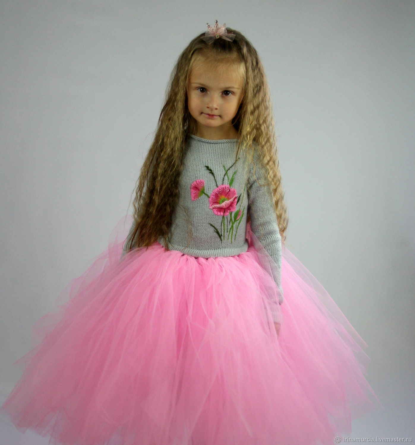 Clothes for Girls handmade. Livemaster - handmade. Buy Quinceanera dress for girl, pink embroidered 'Little Princess'.Tutu