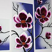 Для дома и интерьера ручной работы. Ярмарка Мастеров - ручная работа Модульные часы+ панно Орхидеи. Handmade.