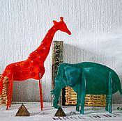 Для дома и интерьера ручной работы. Ярмарка Мастеров - ручная работа 3D Сафари из стекла... Handmade.