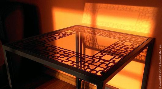 """Мебель ручной работы. Ярмарка Мастеров - ручная работа. Купить Комплект столешниц """"Китайский"""". Handmade. Коричневый, Роспись по стеклу"""