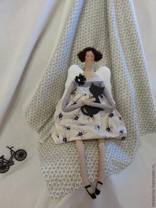 Куклы Тильды ручной работы. Ярмарка Мастеров - ручная работа. Купить Кукла Тильда Домашний ангел. Интерьерная текстильная кукла в стиле Тильда. Handmade.