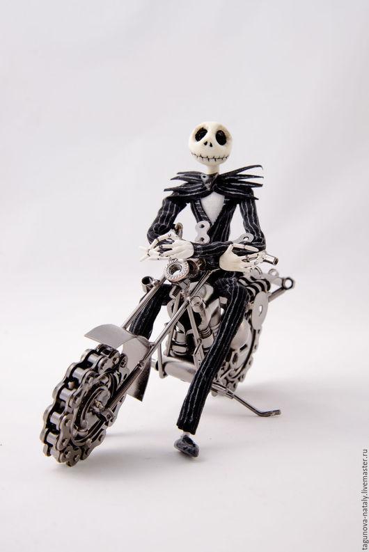 Сказочные персонажи ручной работы. Ярмарка Мастеров - ручная работа. Купить Джек Скеллингтон каркасная кукла. Handmade. Джек, черный