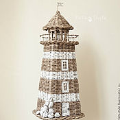 Для дома и интерьера ручной работы. Ярмарка Мастеров - ручная работа Новый Маяк плетеный интерьерный Style Marin. Handmade.