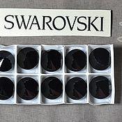Материалы для творчества handmade. Livemaster - original item 1 PCs 12mm Jet 280 Swarovski Rivoli Swarovski. Handmade.