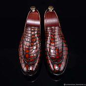 Обувь ручной работы handmade. Livemaster - original item Classic men`s loafers, handmade, in Burgundy color!. Handmade.