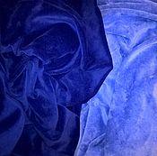 """Ткани ручной работы. Ярмарка Мастеров - ручная работа Хлопковый велюр """"Чернильный"""". Handmade."""