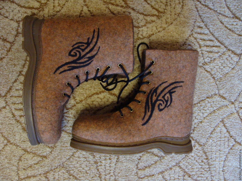 Ботинки валяные мужские, Обувь, Стаханов, Фото №1
