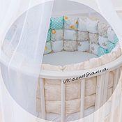 Sides for crib handmade. Livemaster - original item Bombon bumpers in the crib. Handmade.