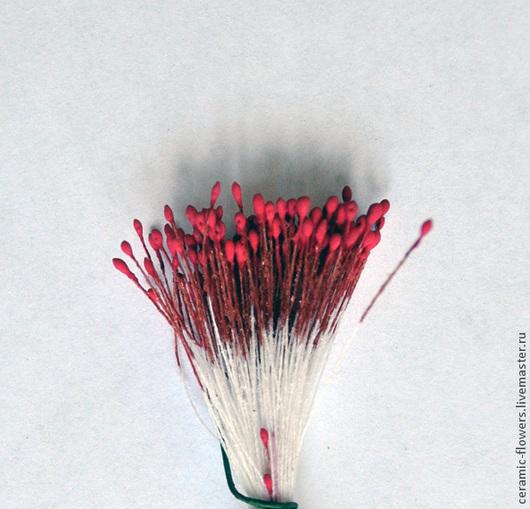Материалы для флористики ручной работы. Ярмарка Мастеров - ручная работа. Купить Тычинки мелкие карминовые. Handmade. Ярко-красный, тычинки