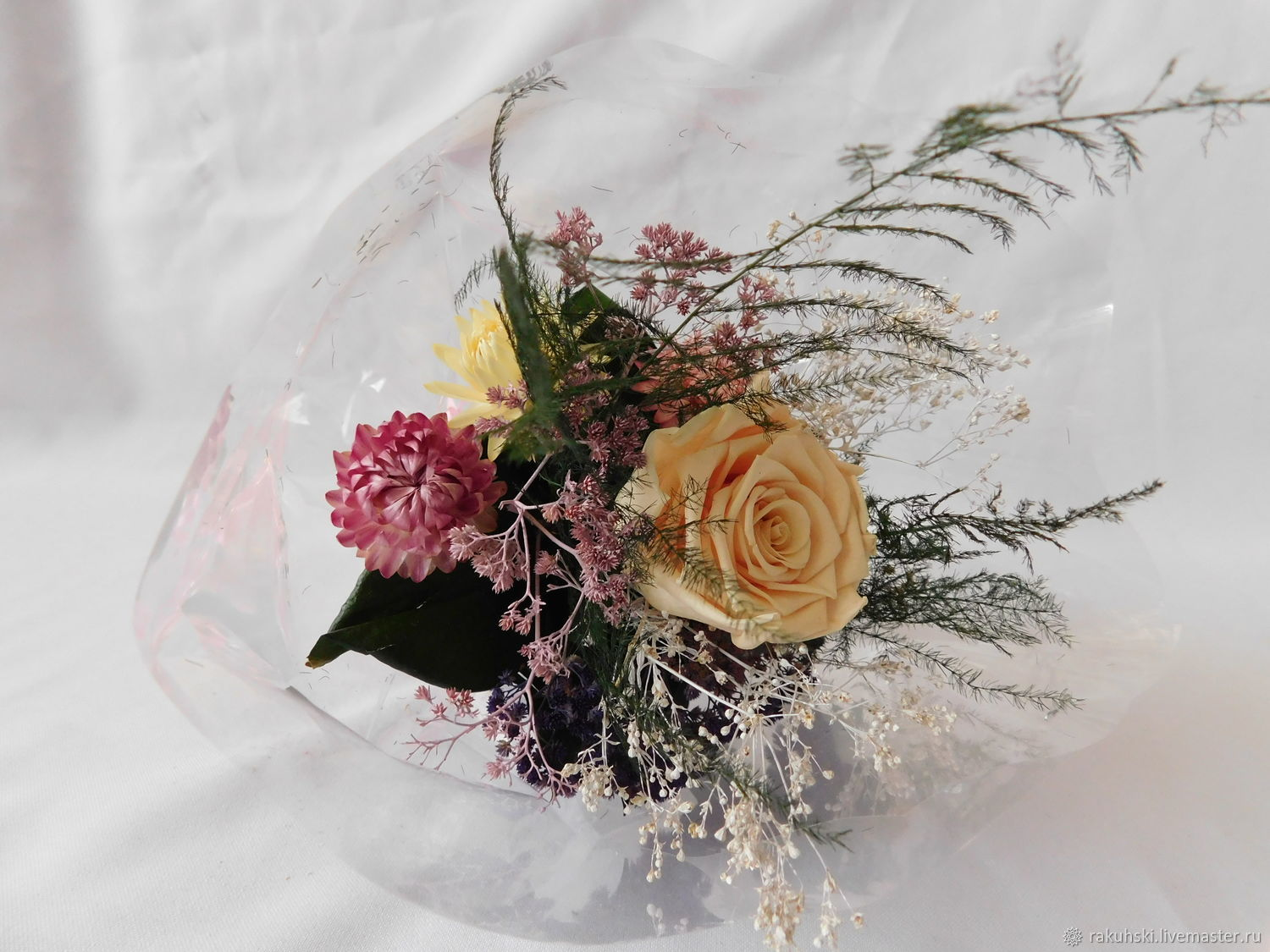 Bouquet of dried flowers rose 1 shop online on livemaster with buy bouquet of dried flowers rose 1 izmirmasajfo