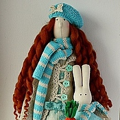 Куклы и игрушки ручной работы. Ярмарка Мастеров - ручная работа Тильда Энни в цветах  Тиффани. Handmade.