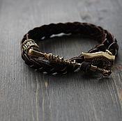 Украшения handmade. Livemaster - original item Bracelet with axe ,leather bracelet ,buy bracelet ,men`s bracelet. Handmade.