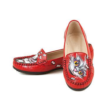 """Обувь ручной работы. Ярмарка Мастеров - ручная работа Мокасины """"Кролик и Чешир"""". Handmade."""