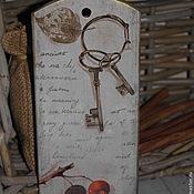 """Для дома и интерьера ручной работы. Ярмарка Мастеров - ручная работа Бирочка """"Ключики"""". Handmade."""
