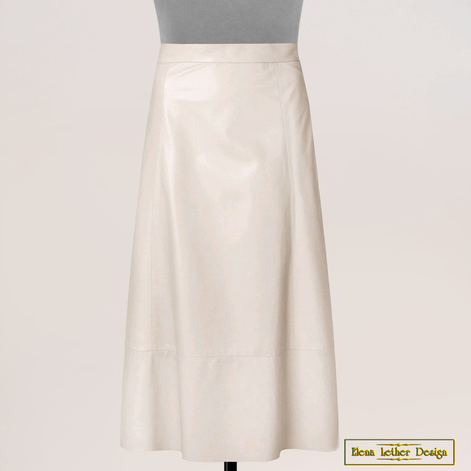 A-line skirt 'Classic' made of genuine leather, Skirts, Rodniki,  Фото №1