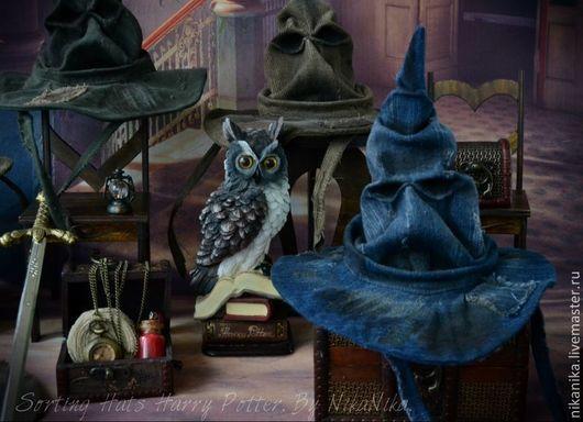 Одежда для кукол ручной работы. Ярмарка Мастеров - ручная работа. Купить Распределяющая шляпа  для кукол, Гарри Поттер.. Handmade. Хаки