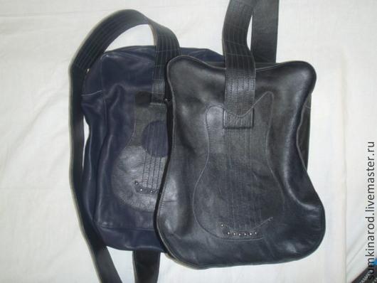 Мужские сумки ручной работы. Ярмарка Мастеров - ручная работа. Купить Кожаная сумка Гитара. Handmade. Кожаный рюкзак
