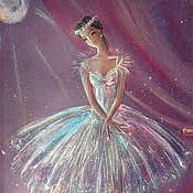 Картины ручной работы. Ярмарка Мастеров - ручная работа Балерина. Handmade.