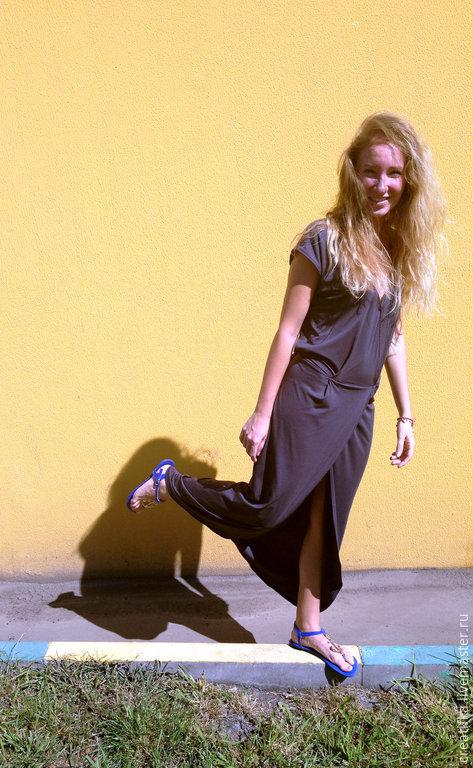 """Платья ручной работы. Ярмарка Мастеров - ручная работа. Купить Платье длинное из тонкого трикотажа """" Легкость"""". Handmade. трикотаж"""