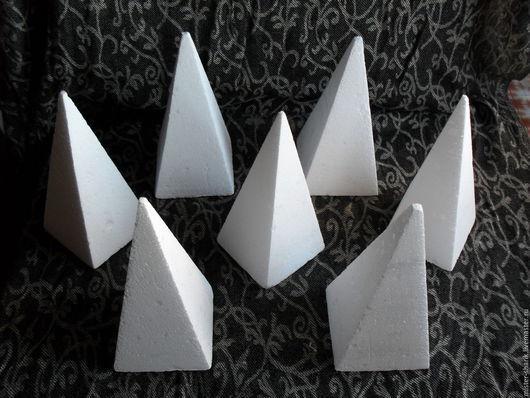 Другие виды рукоделия ручной работы. Ярмарка Мастеров - ручная работа. Купить Пирамида четырехгранная. Handmade. Белый, пенопласт, конус