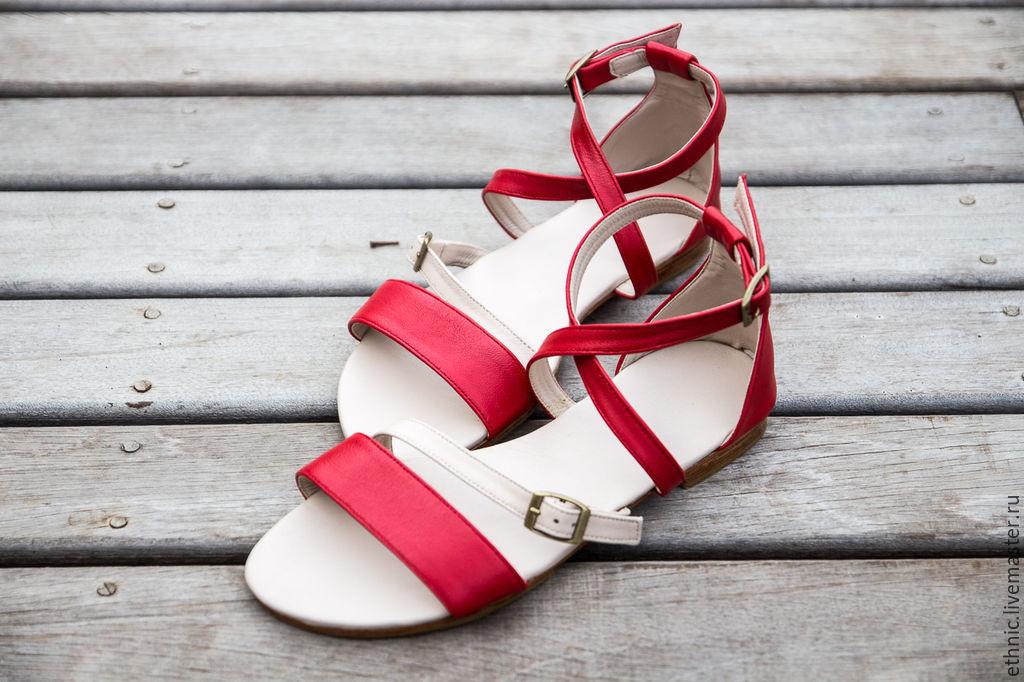 aa619c35a Ярмарка Обувь ручной работы. Женские кожаные сандалии Nicole. СКИДКА 15%.  Maria.