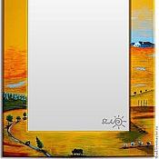 Для дома и интерьера ручной работы. Ярмарка Мастеров - ручная работа Зеркало настенное Пустыня. Handmade.