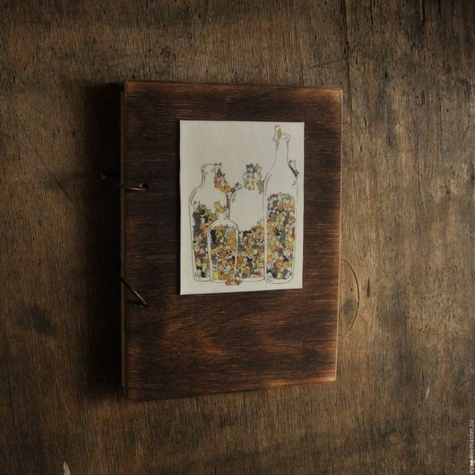 """Блокноты ручной работы. Ярмарка Мастеров - ручная работа. Купить Скетчбук А5 """"Коты в бутылках"""" Блокнот. Handmade. Рыжий, скетчбук"""