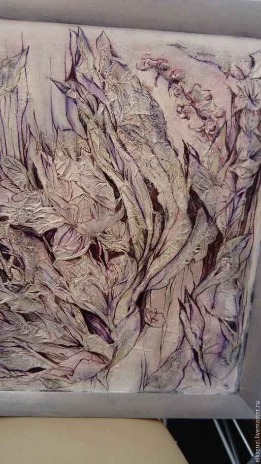 Картины цветов ручной работы. Ярмарка Мастеров - ручная работа. Купить серебряный вьюн. Handmade. Серебряный, винтажный стиль