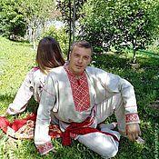 Рубашки ручной работы. Ярмарка Мастеров - ручная работа Рубаха в русском стиле. Handmade.