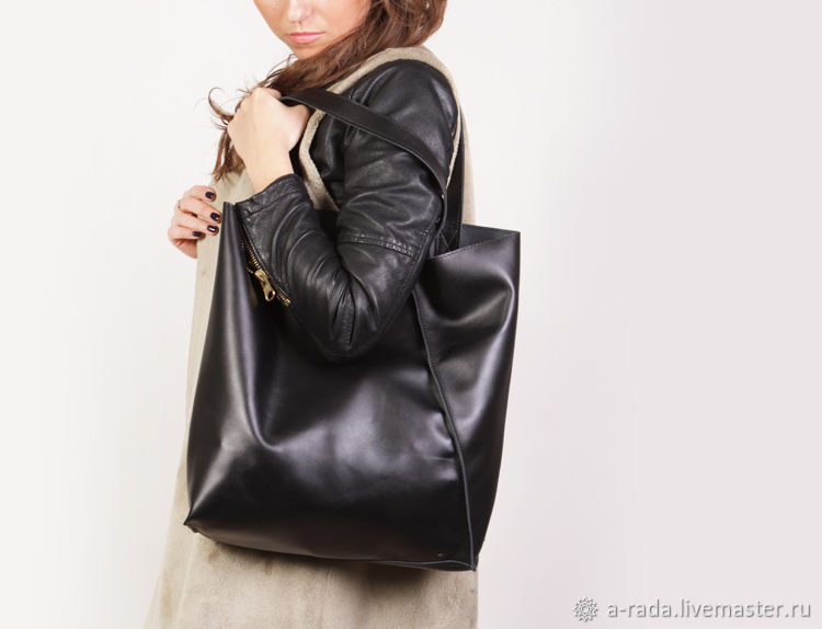 dc1f6dbb6038 Женские сумки ручной работы. Ярмарка Мастеров - ручная работа. Купить  Большая черная сумка шоппер ...