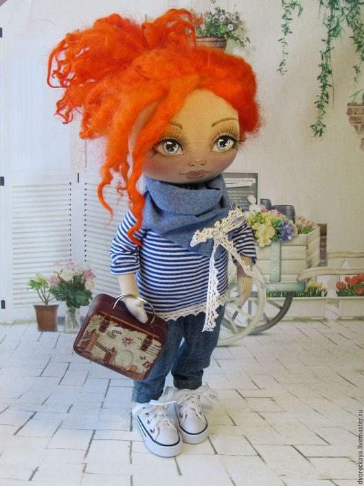 Коллекционные куклы ручной работы. Ярмарка Мастеров - ручная работа. Купить Кукла Леночка. Handmade. Интерьерная кукла, кеды для кукол