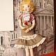 Коллекционные куклы ручной работы. Ярмарка Мастеров - ручная работа. Купить кукла текстильная №4. Handmade. Бежевый, кукла текстильная