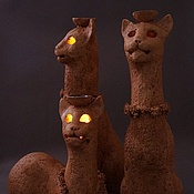 Для дома и интерьера ручной работы. Ярмарка Мастеров - ручная работа Коты, арома лампа. Handmade.